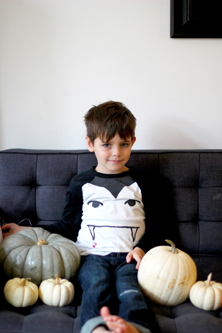 What's better than having a bunch of pumpkins in the house? Watching TV with them on the couch.