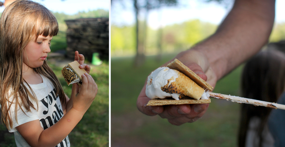 Real s'mores! Is there anything more delicious? (Or more messy?)