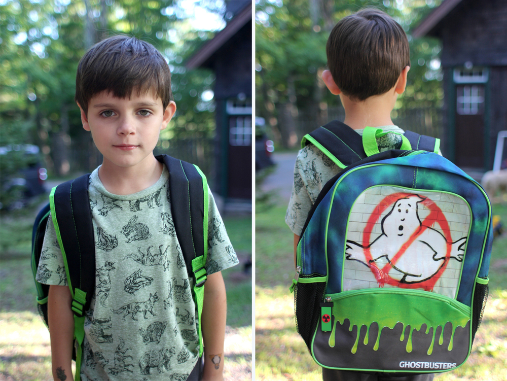 When you're so excited about your new school backpack you wear it everywhere, but also you're so serious about how cool it is.