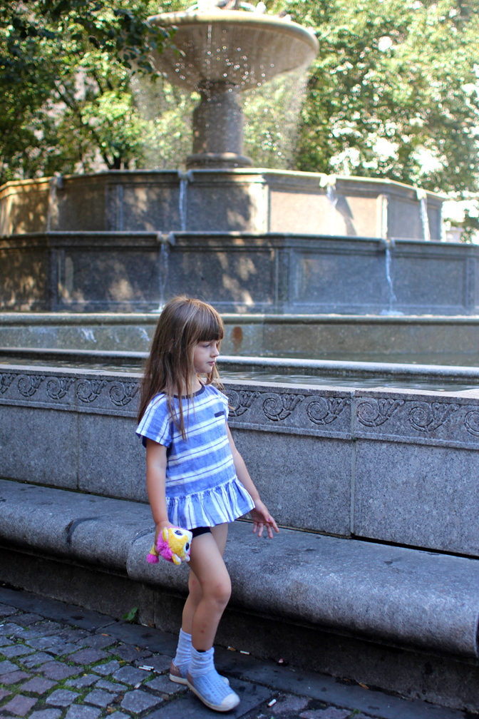 "The Pulitzer Fountain in front of the Plaza Hotel will forever be known as ""the bird bath"" which is what Everett delightfully insisted on calling it when he saw pigeons perching on the rim."