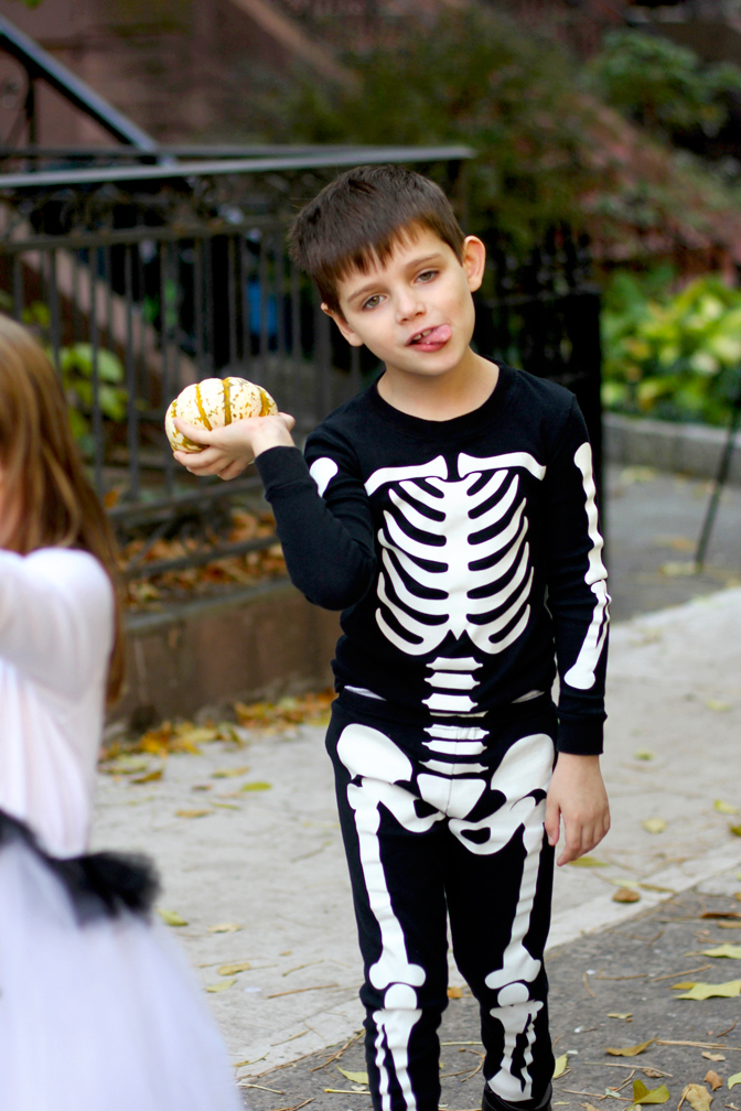 As soon as he put on the skeleton costume, Everett became a zombie, too – a Zombie Skeleton, natch.
