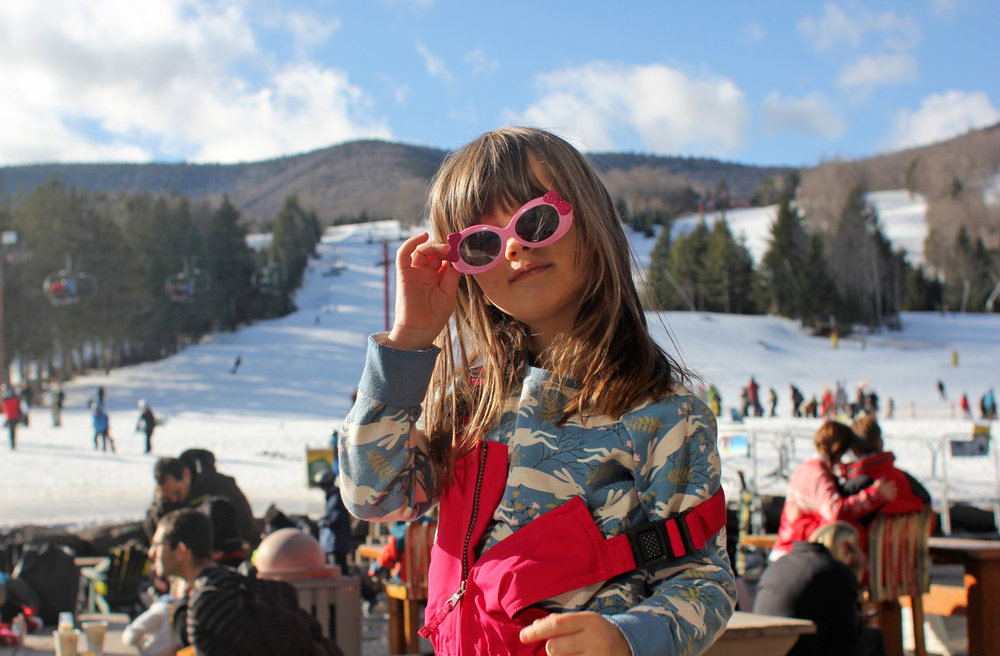 Our first ski trip and Alice decided she'd rather hang at the lodge and eat waffles than actually ski. This one might be more like me than I previously thought.