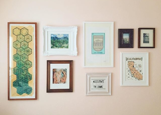 "My lil custom piece (""accelerate through the chaos"") made it into a GORGEOUS wall collection by the fabulous Josselyn, who is the winner of the friend-of-a-friend-whom-I-have-not-met-in-real-life-yet-but-when-we-do-it-will-be-pure-magic award. You know?"