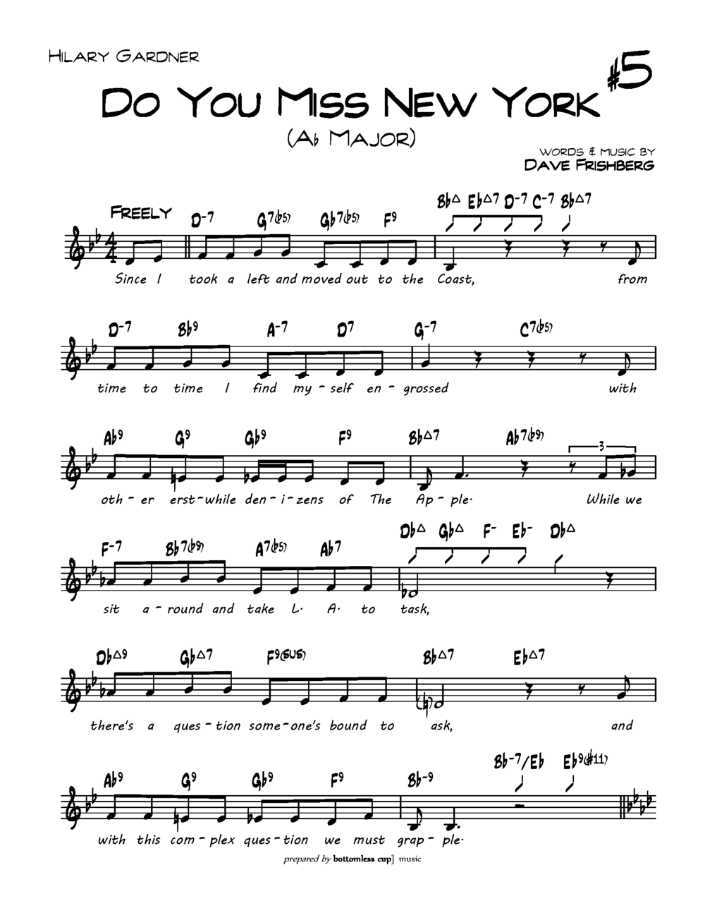 TRANSPOSITION | Do You Miss New York