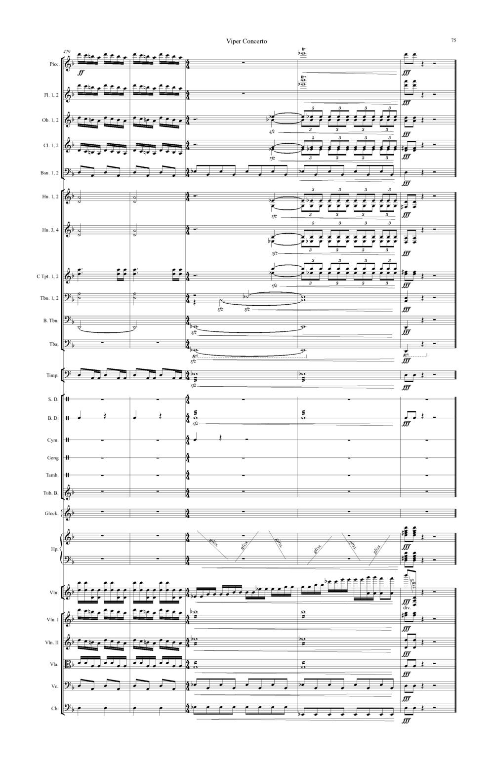 SCORE CLEANUP | Viper Concerto