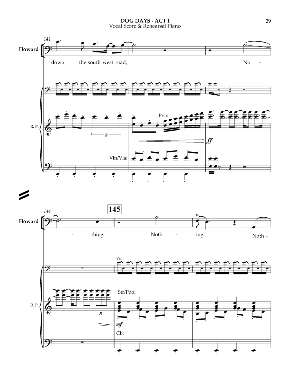 PIANO/VOCAL SCORE | Dog Days