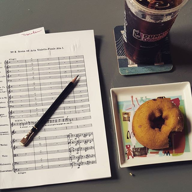 It's 7 am somewhere.... #itsgonnabealongnight #coffeeanddonutsfordinner #latraviata