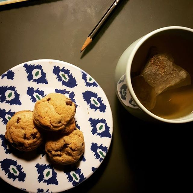 The problem (or best part of?) late night music prep work. #muststayawake #deadlinelooming #ilovecookies