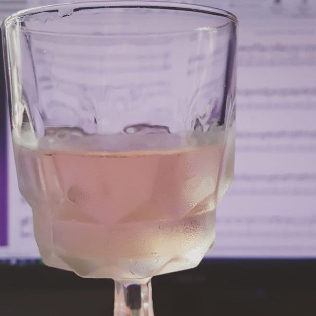 Just a chill afternoon of rosé and light transcription.
