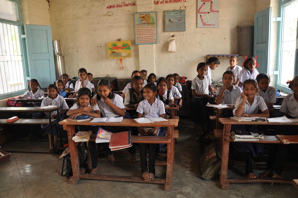 The classrooms in the girls high school inBoriavi