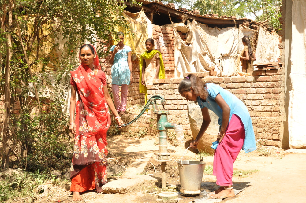 Children usually help their parents with household chores and other work