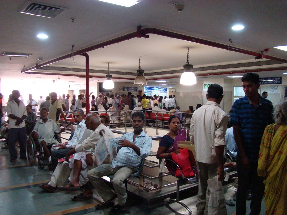 The patient crowd in GB Pant, Delhi