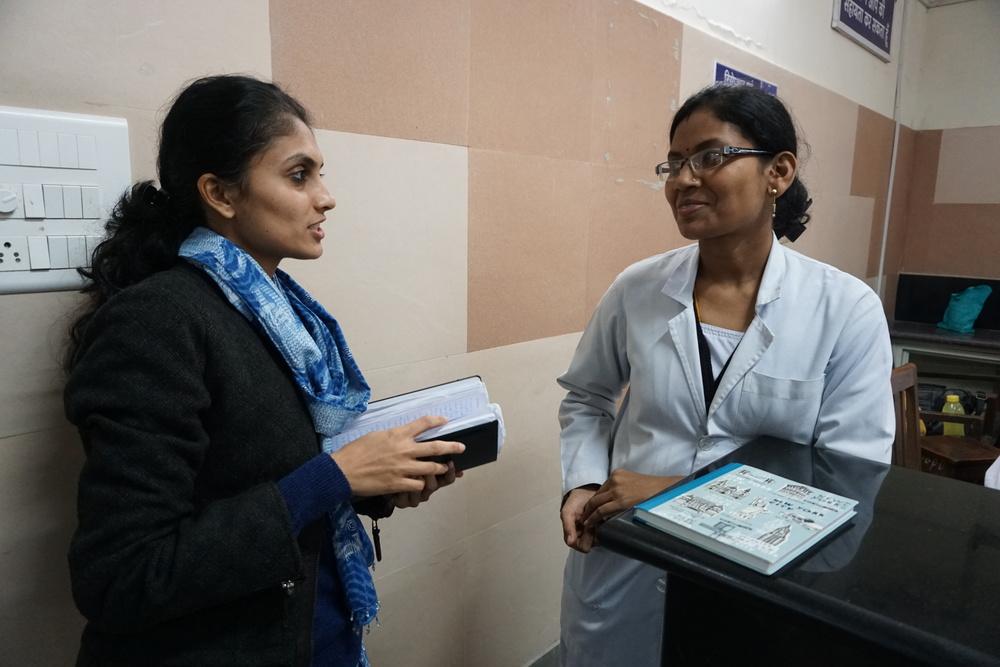 Pragya interviewing a nurse in Indore