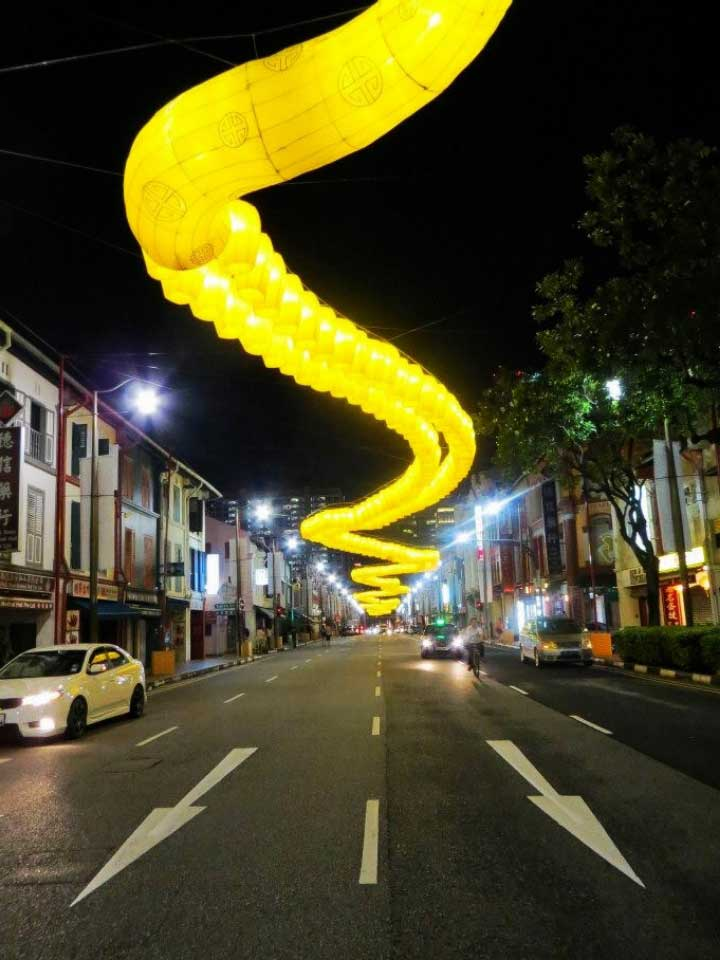 2013: A celebratory street representing the Year of the Snake in Singapore.