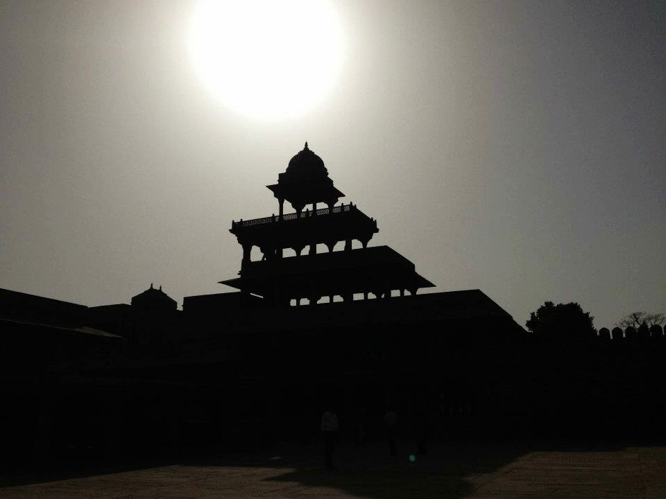 2012: A shadowed Fatehpur Sikri in Agra, India.