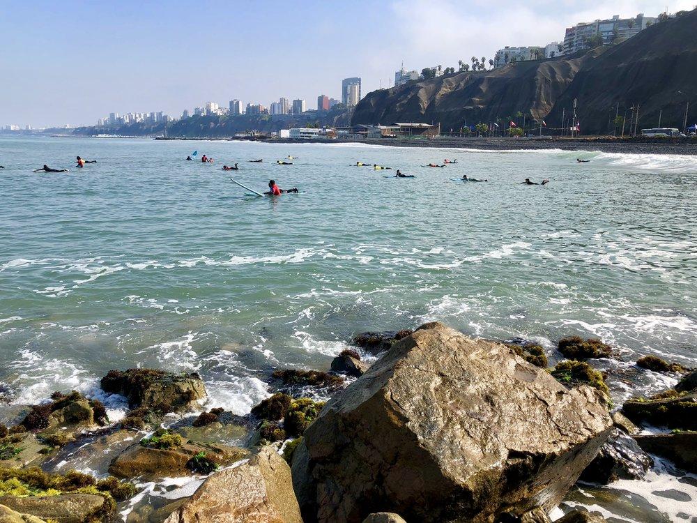 Lima, Peru surfing