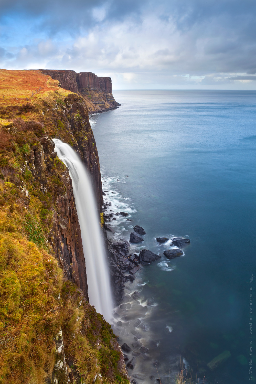 World's Edge |Scotland, United Kingdom February 2014 Kilt Rock Falls dramatically ends off the east coast of the Isle of Skye in northern Scotland. Purchase printshere