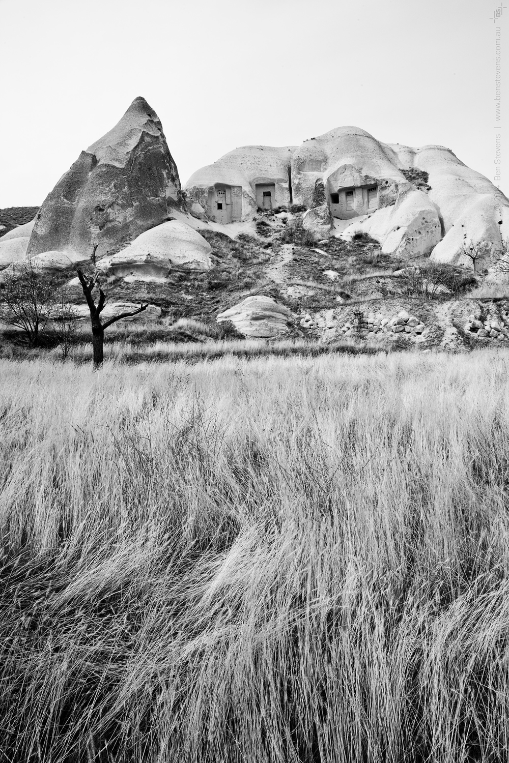 Remnants |Cappadocia, Turkey March 2014 The long abandoned homeof an 11th century Christian, thiscave and othersin Cappadocia arewearing away with the wind, sand and rain of Turkey's harsh climate. Purchase printshere