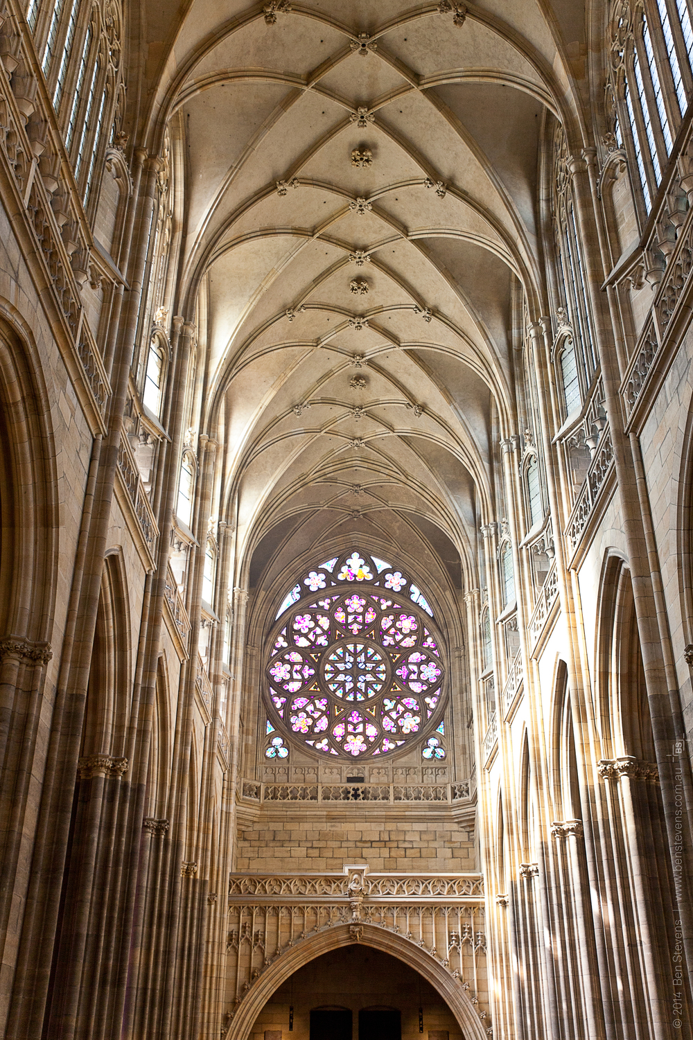 St Vitus Cathedral |Prague, Chezc Republic April 2014 One of the more impressive cathedrals in all Europe, St Vitus'nave isa marvel of light and space. Purchase printshere