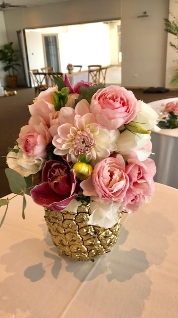 Long Reef Golf Club - April 2017  We can't thank Debbie and Copper Beech enough for their amazing arrangement they did for our wedding in April.  They're given colours and vague flower types and managed to really nail it! They absolutely looked stunning. Thank you   Lisa + Michael