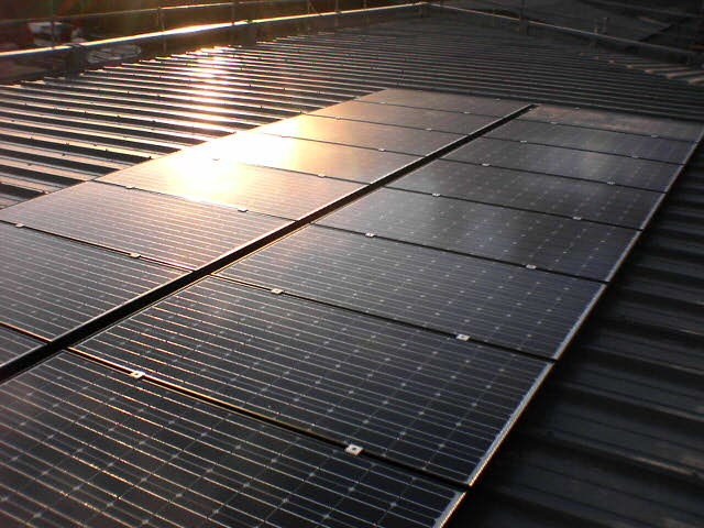 PV frame mounted system, Sanyo Modules 2 - Retford.JPG