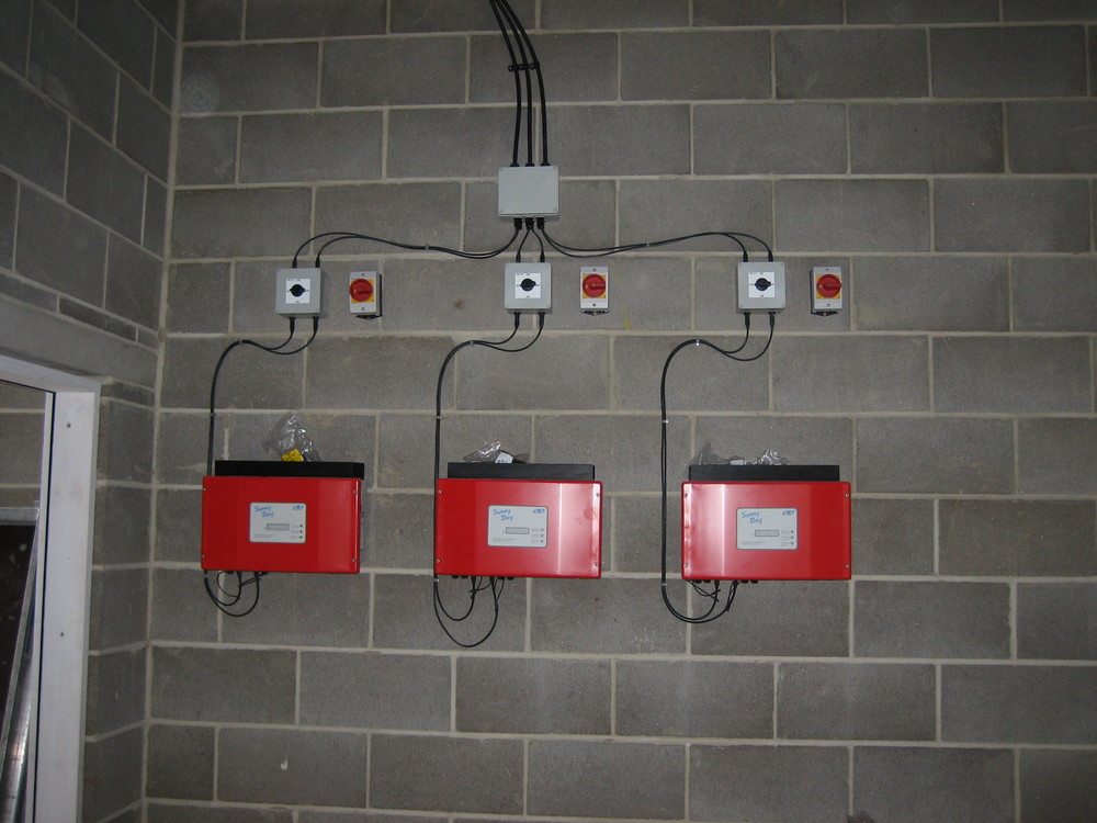 SMA inverters, DC and AC isolation switches for PV system.JPG