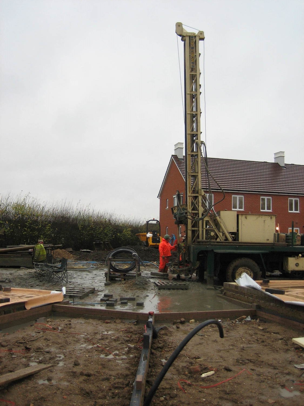 Borehole drilling rig for Ground Source Heat Pumps - Woking.JPG