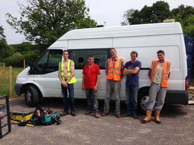 The BuildingSTEPS team and welfare vehicle