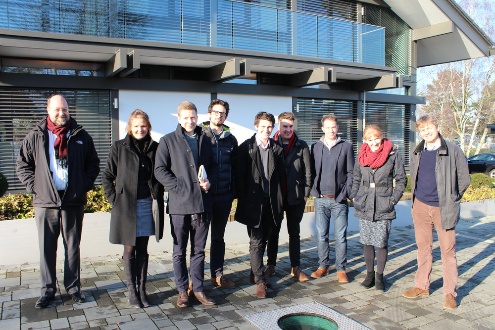 SRE team with Jack Eddy at the Huf Haus show house, Weybridge.  Left to right;  Nikolaos Protogeros, Anna Maclean, Jamie Hume, Sam Paine, Cameron Parker, Iain Turrell, Jack Eddy, Claire Westron and Malcolm Maclean