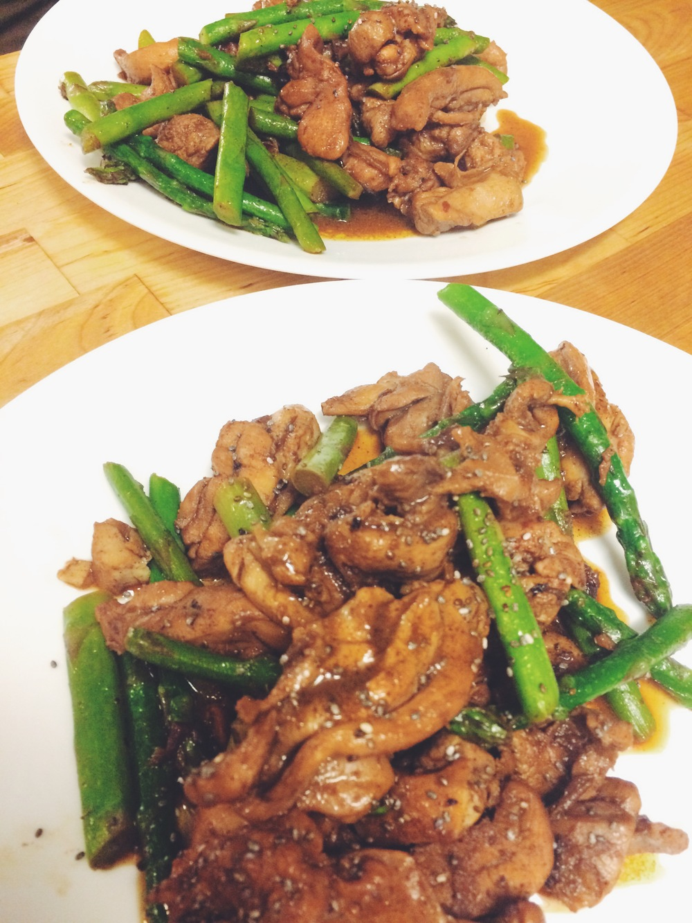 DATE AND ASPARAGUS CHICKEN