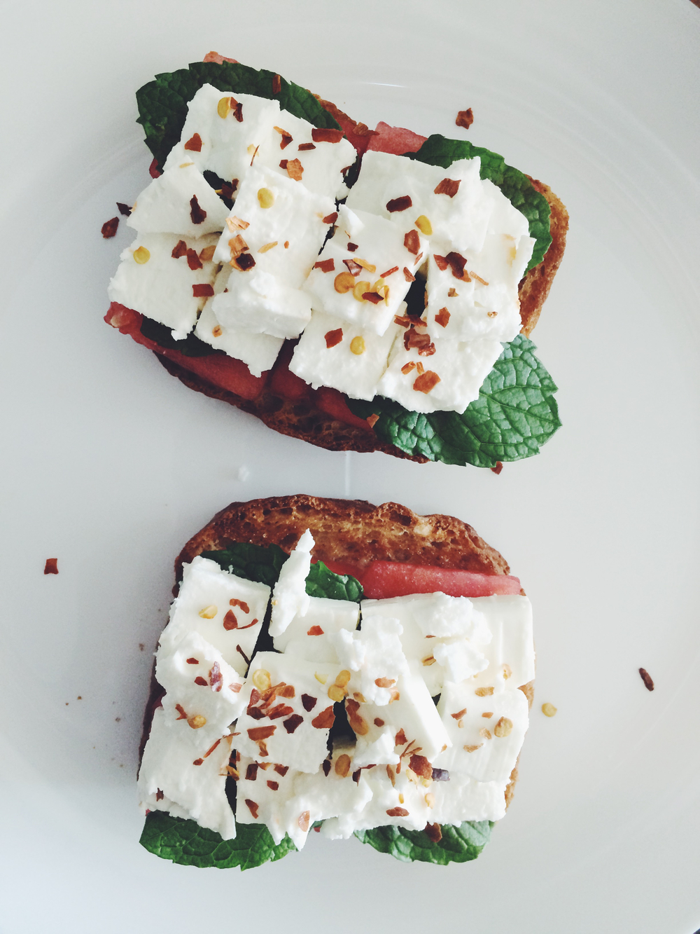 WATERMELON AND FETA TOAST