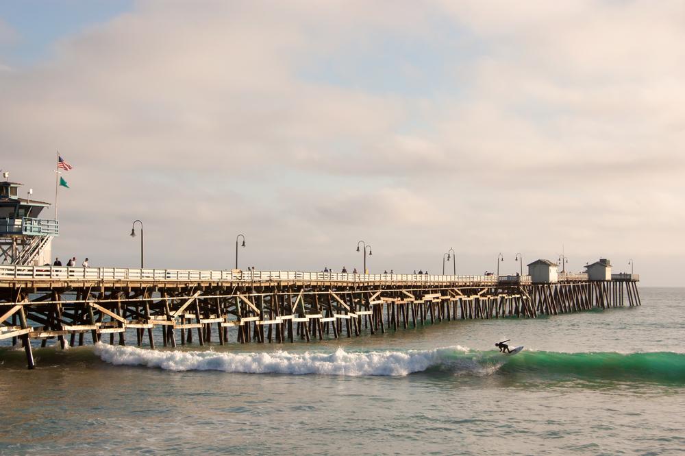 San Clemente Pier Stock Photo SC0012