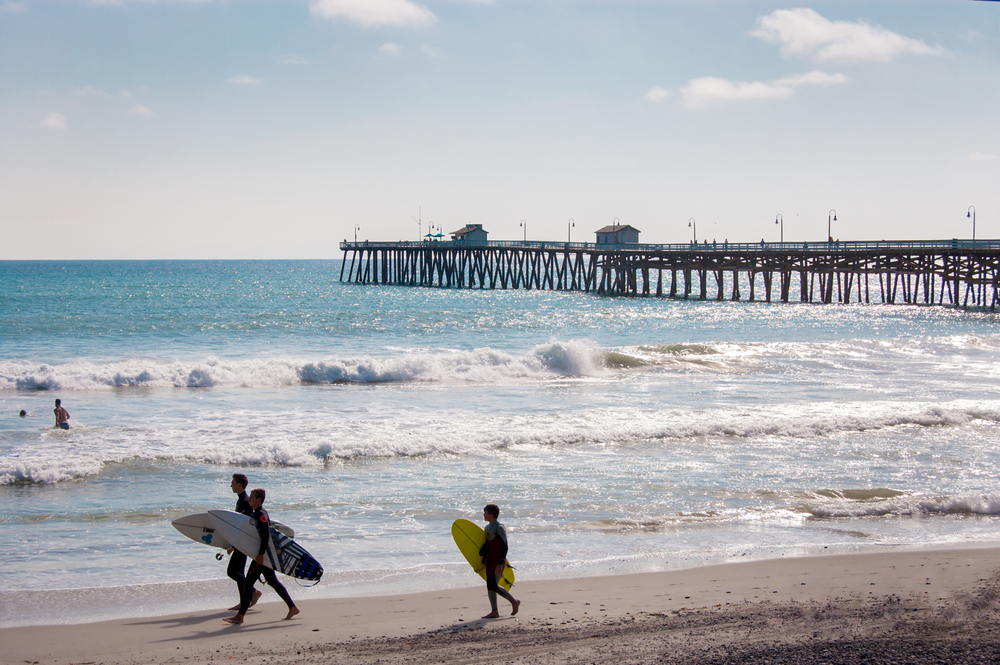 Young Surfers Walking, San Clemente Pier, CA