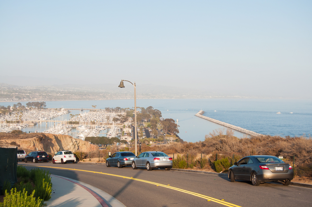 Free parking can be had on Scenic Drive, which overlooks the Dana Point Harbor. It is just a short walk to the Interpretive Center up the hill.