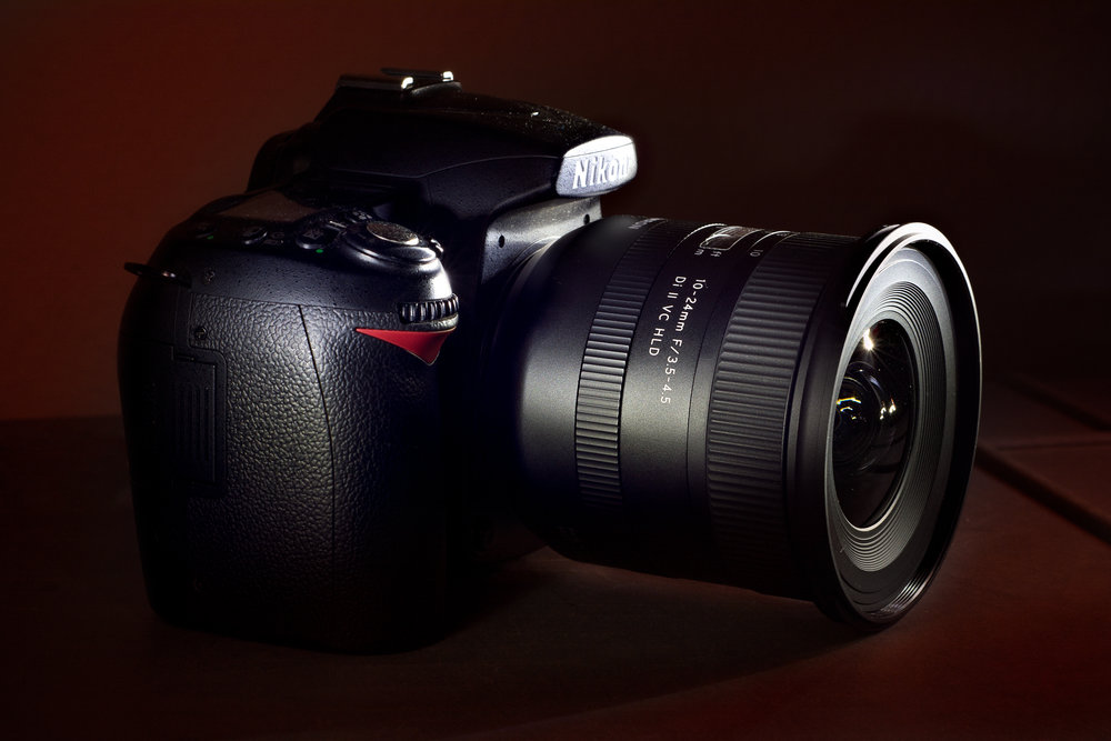 The new Tamron 10-24mm f/3.5-4.5 Di II VC HLD (model B023) attached to a Nikon body.