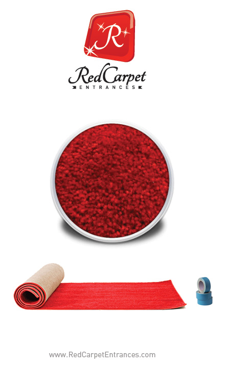 Just Married Wedding Backdrop Red Carpet Kit 5x8 Red