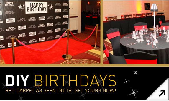 Red Carpet Entrances Diy Red Carpet Runners And Backdrops