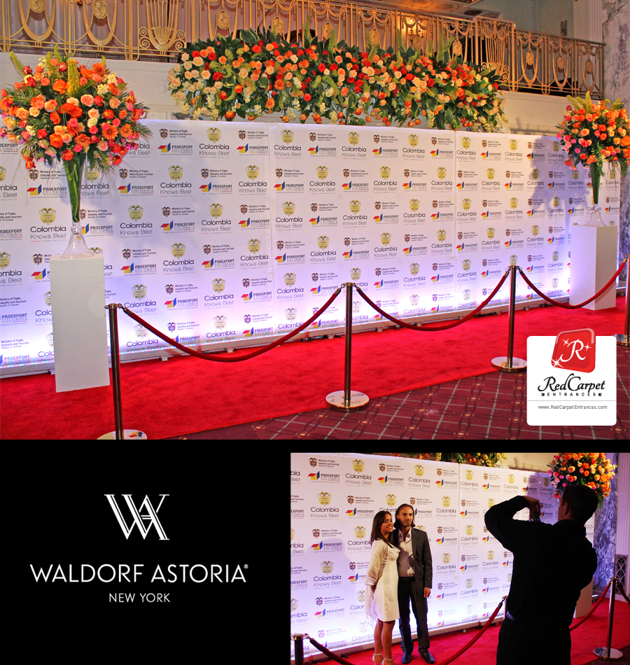 Red Carpet Entrance at Waldorf Astoria NYC