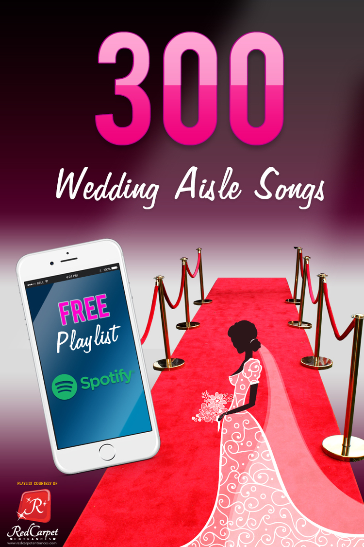 Wedding Aisle Songs Playlist Red Carpet Runner Backdrop