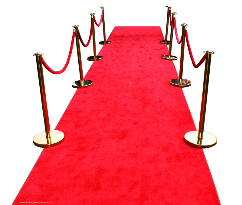 red carpet wedding aisle runner