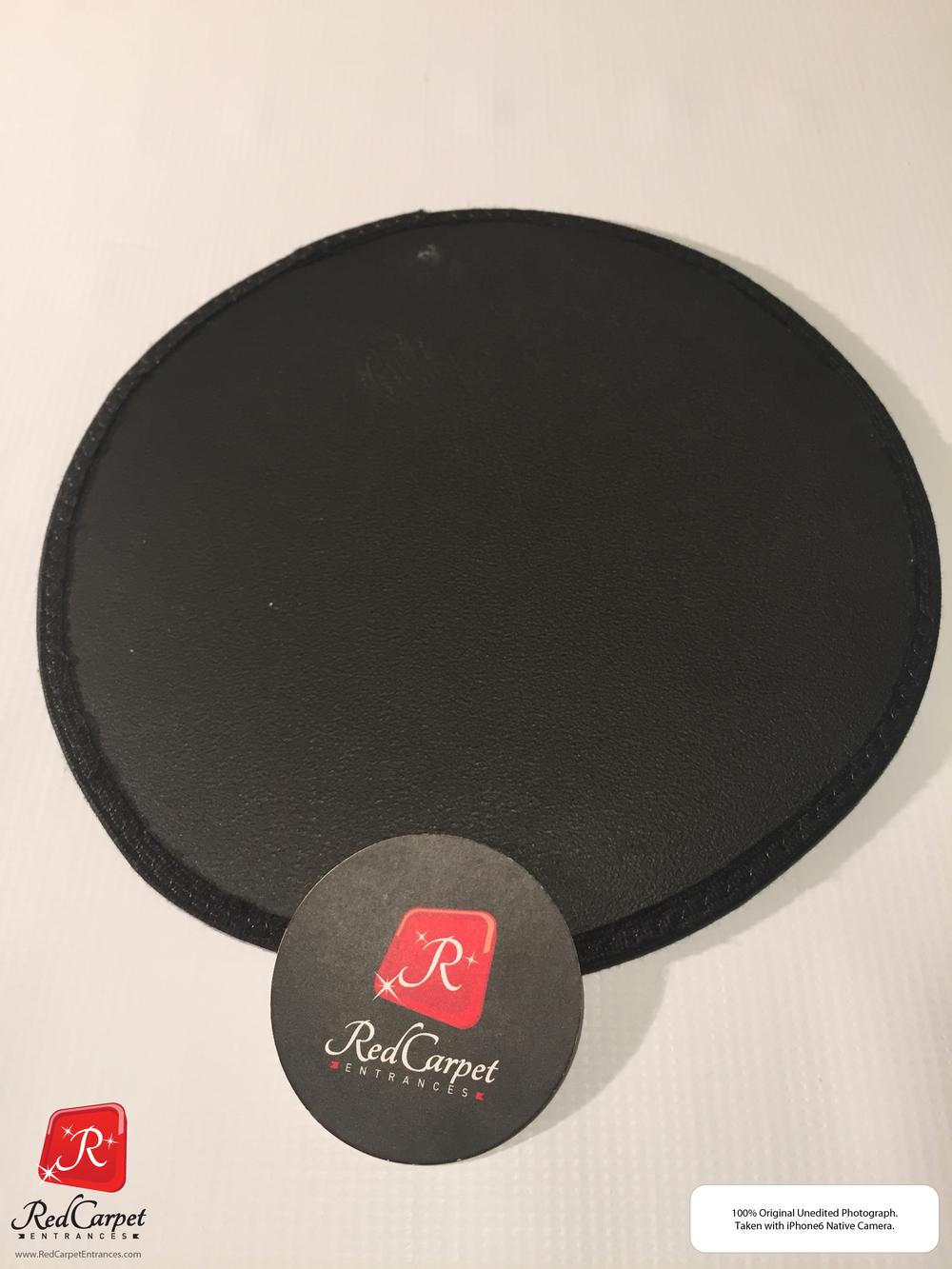 Black Vinyl Event Rug