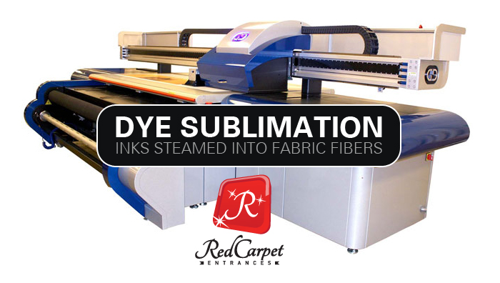 step and repeat printer dye sublimation fabric