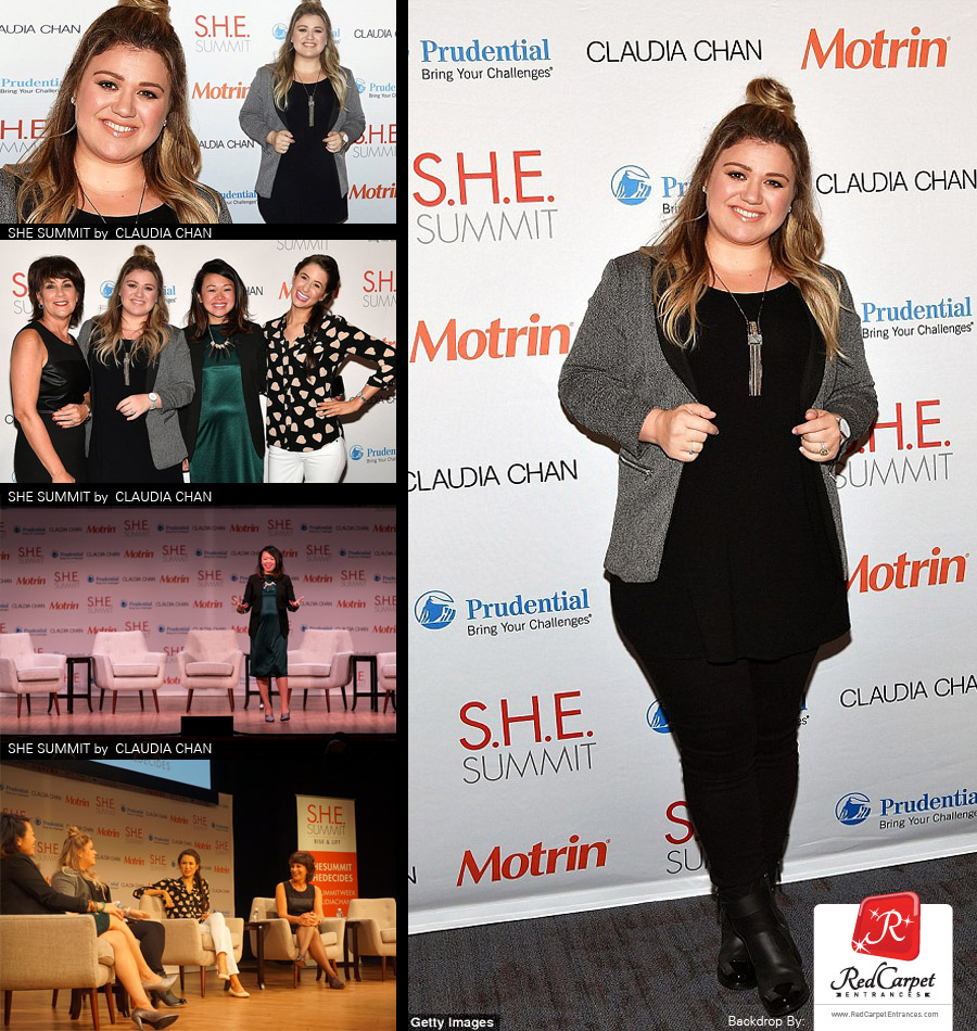 Kelly Clarkson at SHE Summit by Claudia Chan 2016