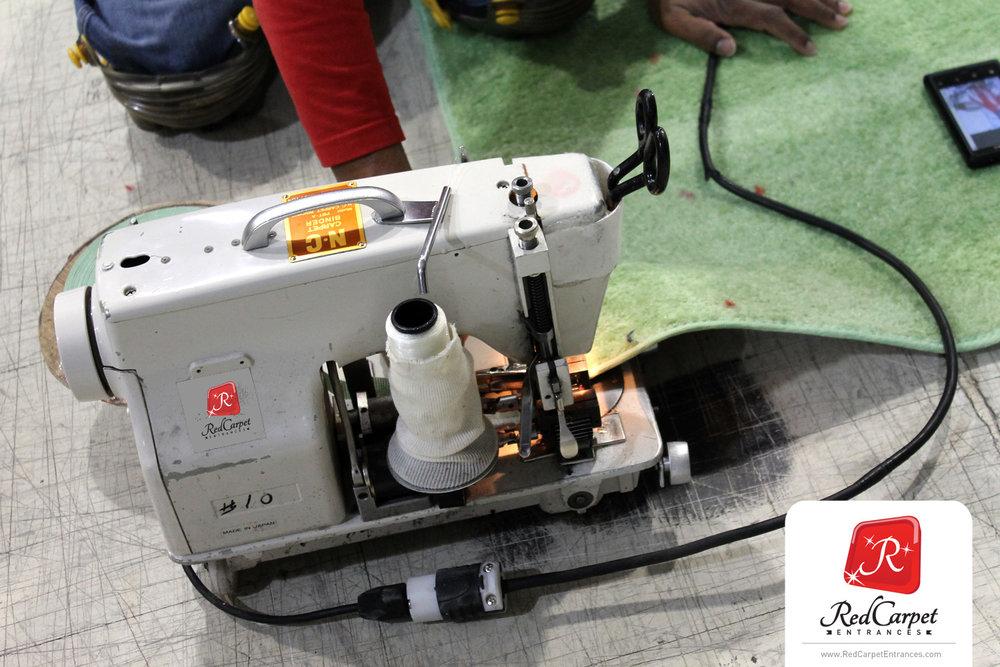 trade show logo rug