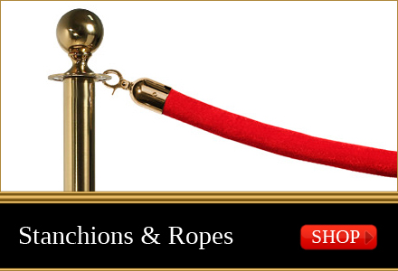 stanchions and ropes