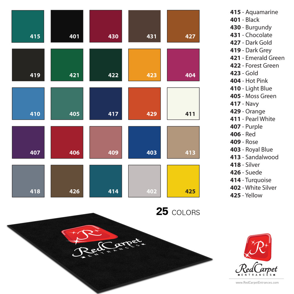 custom logo mat colors