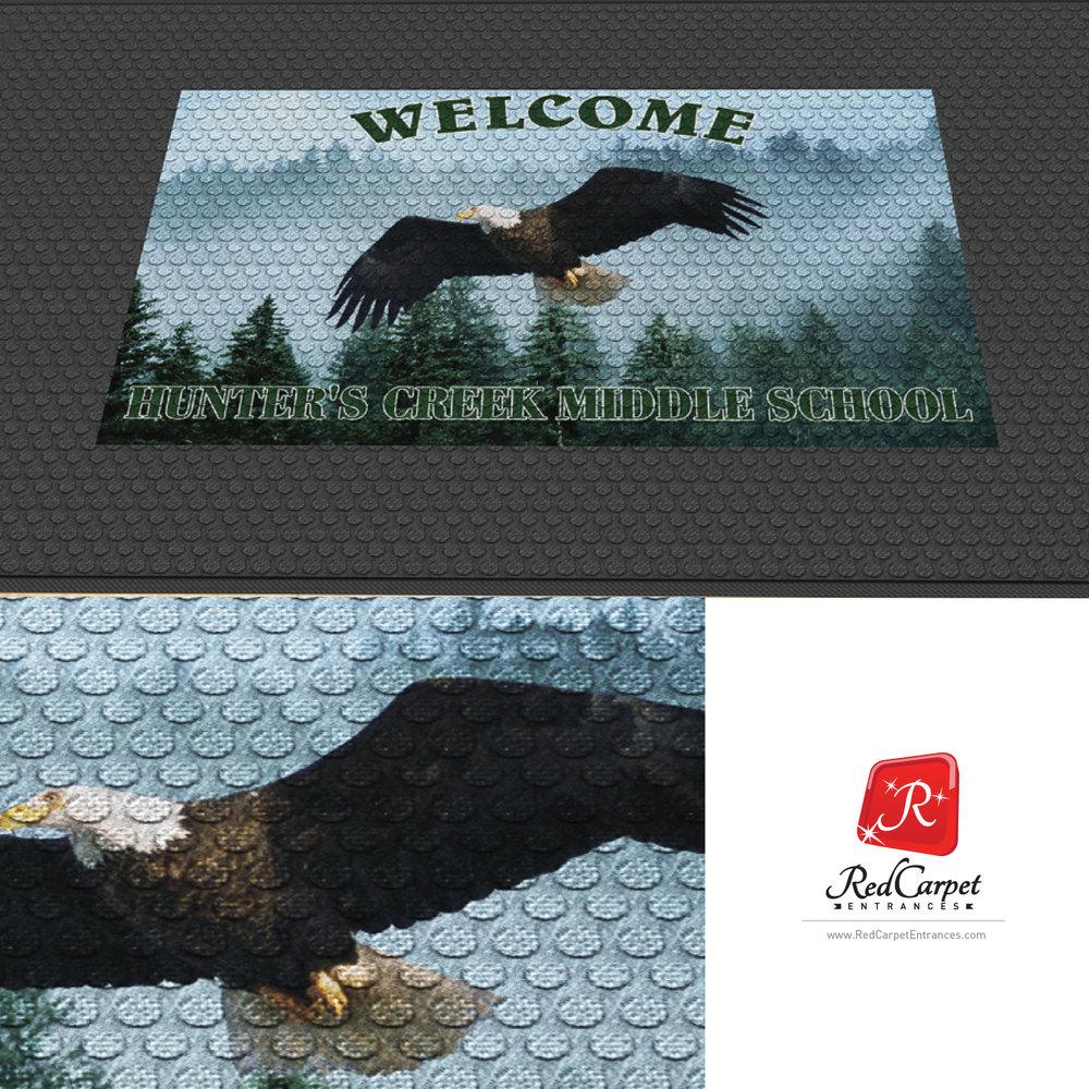 outdoor logo mat scraper