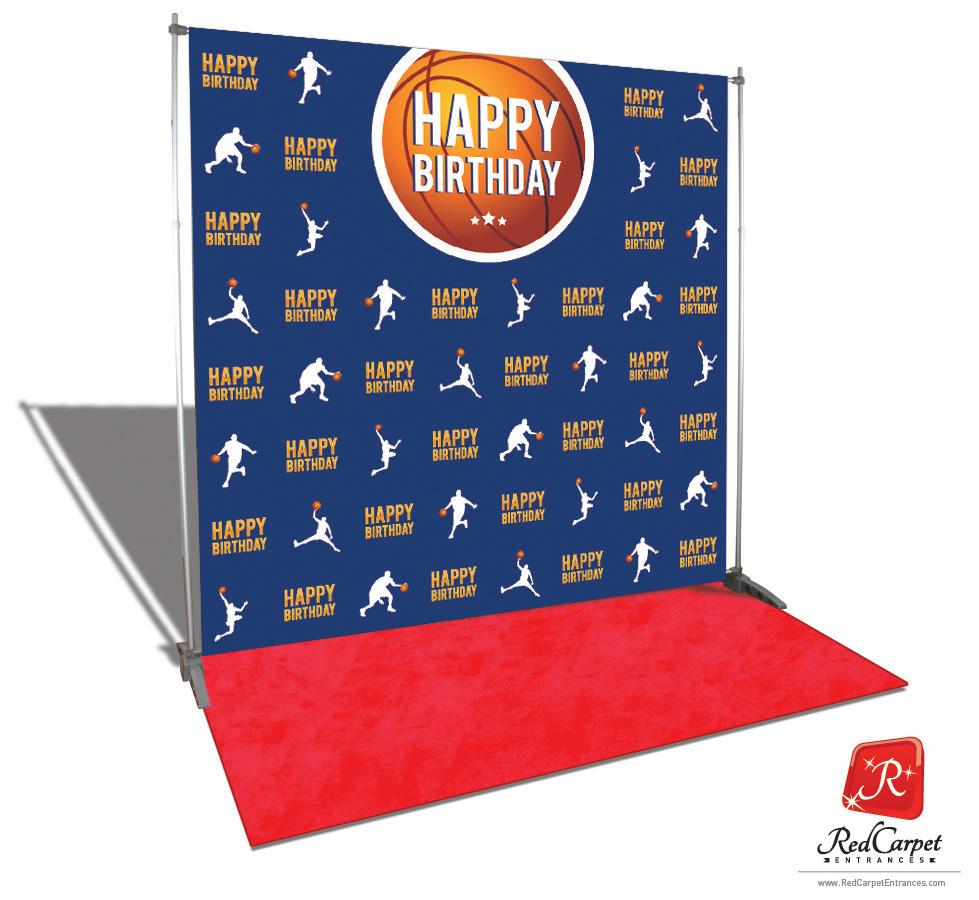 Basketball MVP Birthday Backdrop