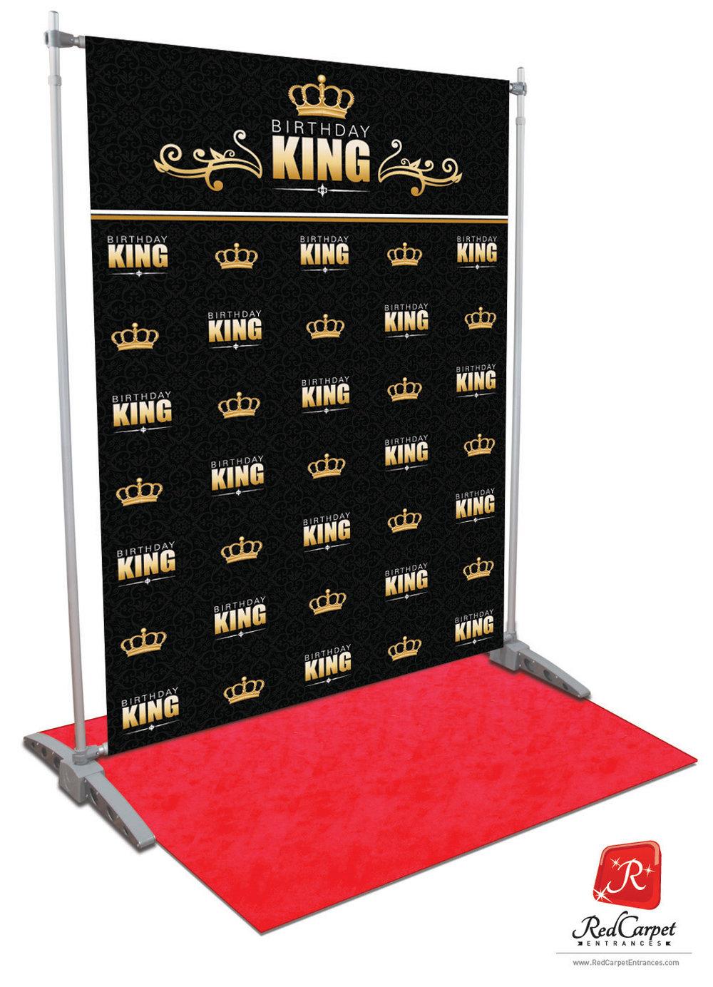 Birthday King Backdrop Red Carpet Kit Black 5x8 Red Carpet Runner Amp Backdrop