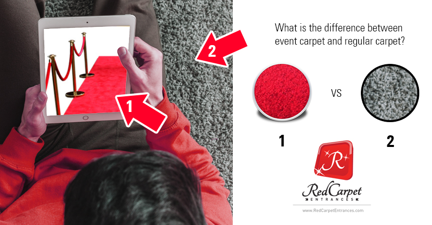 difference between event carpet and regular carpet